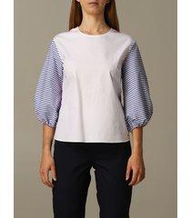 armani exchange shirt armani exchange sweater with striped sleeves