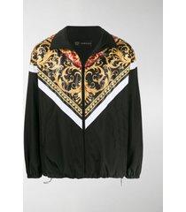 versace baroque print zipped jacket