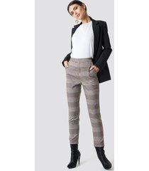 na-kd classic plaid suit pants - grey,multicolor