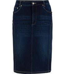 gonna in jeans con impunture modellanti (nero) - bpc bonprix collection