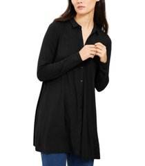 eileen fisher point-collar button-up tunic, created for macy's