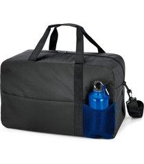 kit bolsa esportiva standard com squeeze sport topget preto e azul