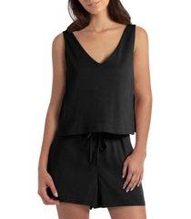 women's sleeveless v-neck romper