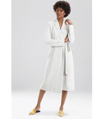 natori serenity cardigan robe, women's, beige, size xs natori
