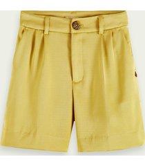 scotch & soda high-waisted drapey shorts