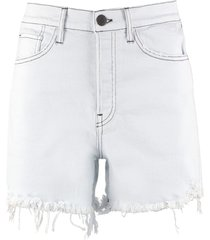 3x1 high-rise cut-off denim shorts