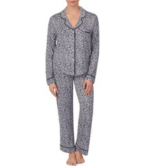 women's room service pjs pajamas & eye mask set, size small - black (nordstrom exclusive)