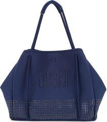 duskii loose wide tote bag - blue