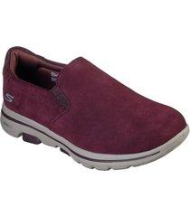 zapatillas urbanas go walk 5 - special rojo skechers