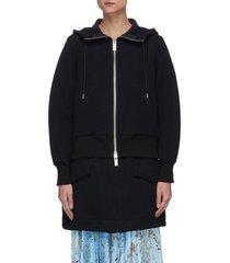 extended hem hoodie