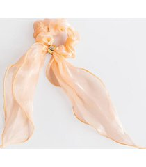 brooke iridescent pony scarf in peach - peach