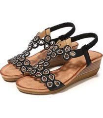 sandalias de mujer sandalias de punta redonda para mujer sandalias de cuña