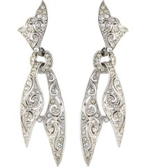 diamanté knotted scarf drop earrings