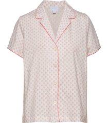 pj shirt in poplin top rosa gap