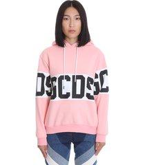 gcds sweatshirt in rose-pink cotton