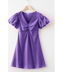 abito con maniche a palloncino (viola) - bodyflirt