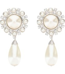 alessandra rich crystal earrings pearl