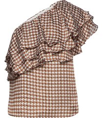 amelia blouse blouse mouwloos bruin birgitte herskind