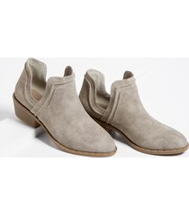 maurices womens athena low side ankle bootie gray