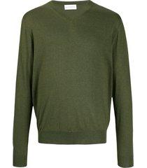 ballantyne v-neck lightweight sweatshirt - green