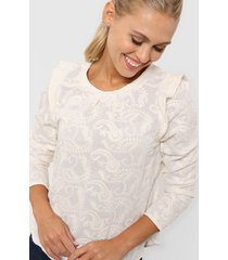 blusa natural asterisco lisboa bordado
