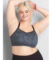 lane bryant women's livi soft low-impact no-wire sport bra 14/16 active texture