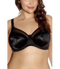 women's goddess keira full figure underwire bra, size 40g - black