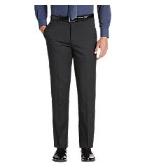 travel tech slim fit tic solid flat front men's suit separate pants - big & tall by jos. a. bank