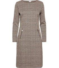 dress knitted fabric jurk knielengte bruin gerry weber