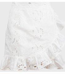 falda glamorous corta blanco - calce regular