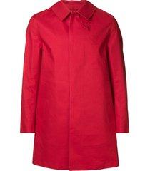 mackintosh berry red bonded cotton short coat gr-002