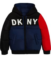 dkny bomber jacket with color-block design