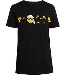 karl emoji graphic t-shirt