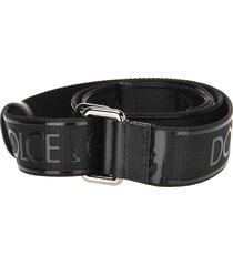 dolce & gabbana fabric logo belt