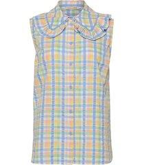 beate blouse mouwloos multi/patroon stella nova