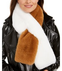 apparis rachel two-tone faux-fur scarf, created for macy's
