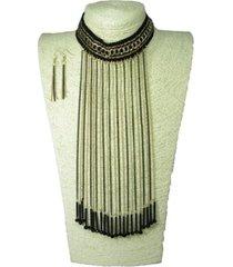 collar artesanal dorado  sasmon cl-12302