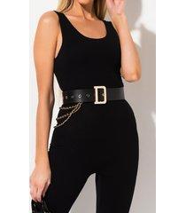 akira what waist wide faux leather belt