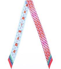 louis vuitton bubblegram bb bandeau scarf multicolor silk blue/multicolor sz: