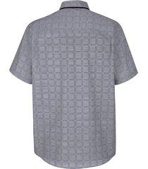kortärmad skjorta roger kent grå::svart