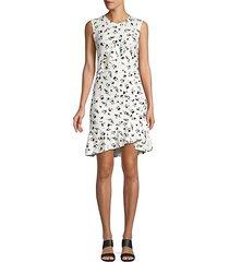 francie asymmetric ruffle dress