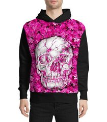 moletom stompy skull and flower masculino