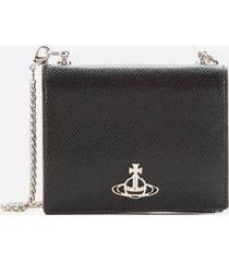 vivienne westwood women's sofia card case with chain - black