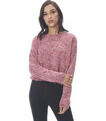 sweater chenille crop burdeo corona