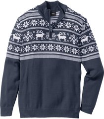 maglione  a collo alto (blu) - bpc bonprix collection