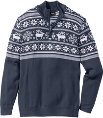 maglione  a collo alto (blu) - bpc bonprix collection