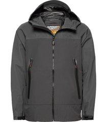 hydrotech waterproof jacket regenkleding grijs superdry