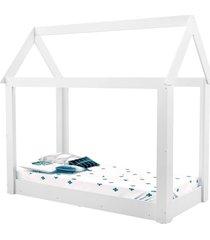 cama infantil montessoriana manu branco brilho carolina baby