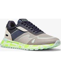 mk sneaker miles in nylon - alluminio (grigio) - michael kors