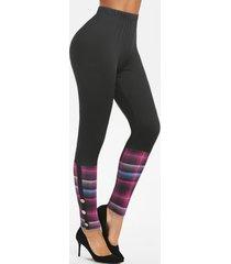 high rise plaid leggings